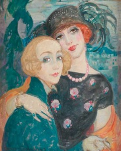 Gerda and Lili, painted by Gerda Wegener