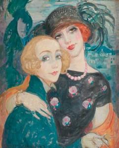 Gerda and Lili, painted by Gerda Wegener