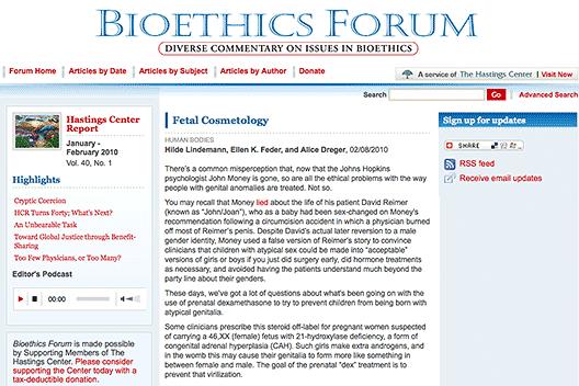 Bioethics Forum: Fetal Cosmetology