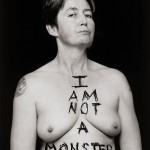 """Mani Bruce Mitchell, """"I am not a monster"""", by Rebecca Swan for her project """"Assume Nothing"""". Photograph © copyright Rebecca Swan 2010 and reproduced by kind permission of Mani Bruce Mitchell and Rebecca Swan."""