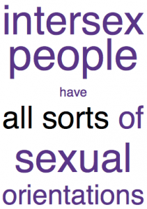 Intersex people have all sorts of sexual orientations