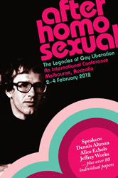 Poster, After Homosexual: The Legacies of Gay Liberation.