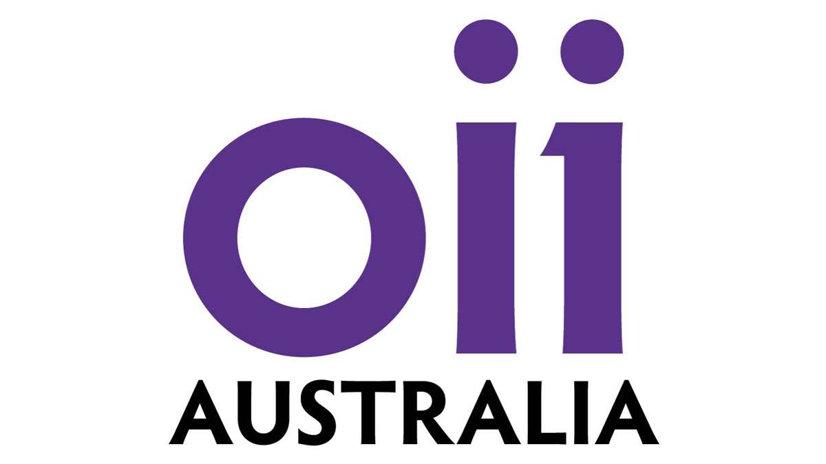 The OII affiliate logotype extended with the word Australia.