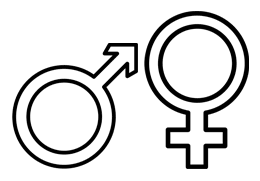 Male and female are often posed as binary opposites, failing to recognise the existence of intersex.