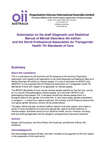 OII Australia's Position Statement: DSM-V Draft, February 2010