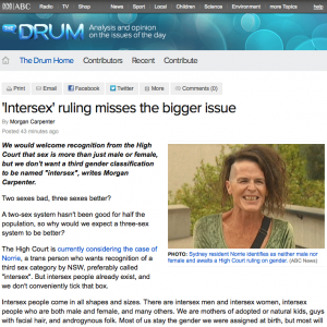 ABC The Drum: 'Intersex' ruling misses the bigger issue