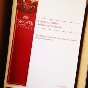 Senate Committee report on the involuntary or coerced sterilisation of intersex people in Australia