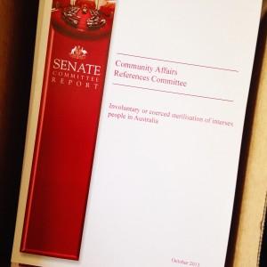 Senate Committee report on the involuntary or coerced sterilisation of intersex people in Australia