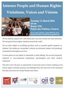 Intersex side event at the UN Human Rights Council
