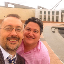 Morgan and Tony at Parliament House