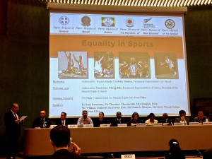 UN HRC side event on sport