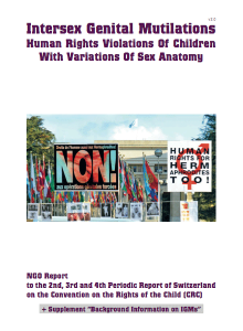 Intersex shadow report, Convention on the Rights of the Child