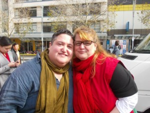 Tony and Manja speak on marriage equality at a rally in Melbourne, 2014.