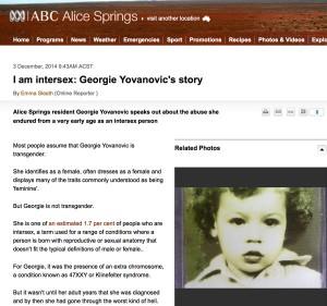 I am intersex: Georgie Yovanovic's story