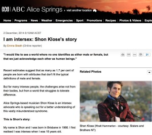 I am intersex: Shon Klose's story