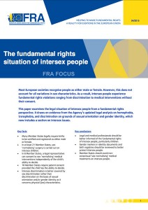 Focus paper by EU Agency for Fundamental Rights