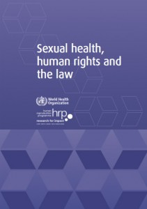 World Health Organization publishes report on sexual health, human rights and the law