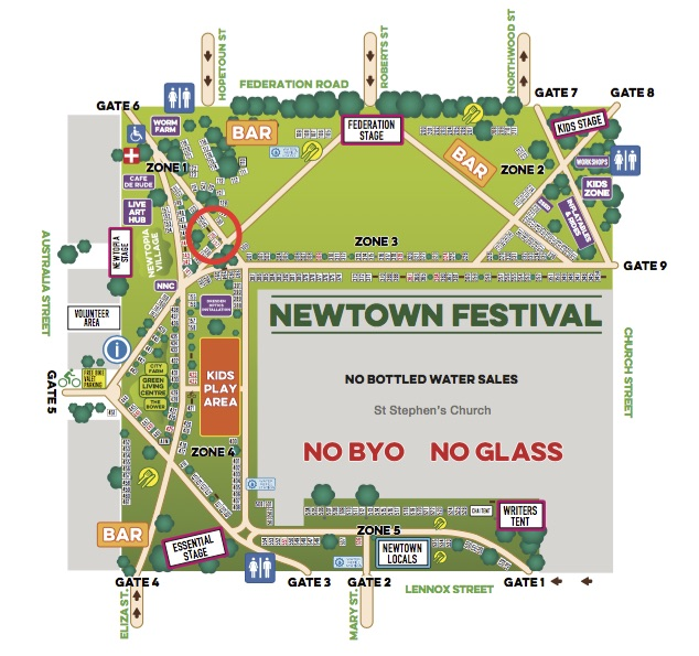 Newtown Festival map