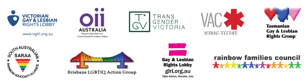 Rainbow Votes Coalition member logos