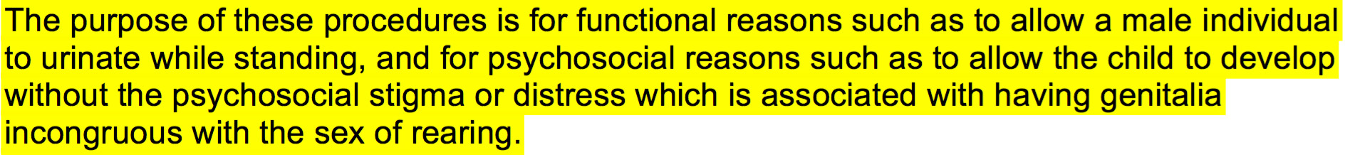 Psychosocial reasons